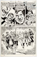Original Comic Art:Panel Pages, Mike Sekowsky and Sid Greene Justice League of America #61 Story Page 17 Green Arrow Original Art (DC, 1968)....