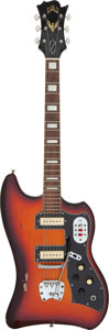 Musical Instruments:Electric Guitars, 1966 Guild Thunderbird Sunburst Solid Body Electric Guitar, Serial # 46115....