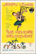 """Movie Posters:Comedy, The Delicate Delinquent & Other Lot (Paramount, 1957). Folded,Very Fine-. One Sheets (2) (27"""" X 41""""). Comedy.. ... (Total: 2Items)"""