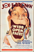 """Movie Posters:Comedy, Wide Open Faces (Columbia, 1938). Folded, Very Fine-. One Sheet(27"""" X 41""""). Comedy.. ..."""