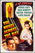 """Movie Posters:Crime, The House Across the Bay (Masterpiece Productions, R-1948). Folded,Fine+. One Sheet (27"""" X 41""""). Crime.. ..."""