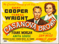 "Movie Posters:Comedy, Casanova Brown (United Artists, 1944). Folded, Very Fine-. BritishQuad (30"" X 40""). Comedy.. ..."