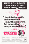 """Movie Posters:Thriller, Targets & Other Lot (Paramount, 1968). Folded, Very Fine. OneSheets (2) (27"""" X 41""""). Thriller.. ... (Total: 2 Items)"""