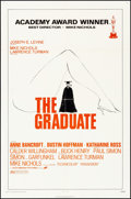 "Movie Posters:Comedy, The Graduate (Avco Embassy, R-1972). Folded, Very Fine-. One Sheet (27"" X 41""). Comedy.. ..."