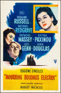 """Movie Posters:Drama, Mourning Becomes Electra (RKO, 1947). Folded, Very Fine-. One Sheet(27"""" X 41""""). Drama.. ..."""