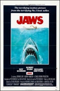"Movie Posters:Horror, Jaws (Universal, 1975). Folded, Very Fine-. One Sheet (27"" X 41"").Roger Kastel Artwork. Horror.. ..."