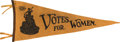 Political:Textile Display (1896-present), Woman's Suffrage: Rare WSP Pennant....