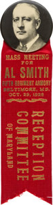 Political:Pinback Buttons (1896-present), Al Smith: Great Maryland Ribbon Badge....