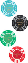 "Movie Posters:James Bond, Casino Royale (MGM, 2006). Near Mint. Screen-Used One & Only Ocean Club Poker Chips (4) (Diameter: 1.5"") $5, $25, $100, & $5... (Total: 4 Items)"