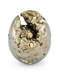 Lapidary Art:Eggs and Spheres, Pyrite Egg. Peru. 2.49 x 1.96 inches (6.32 x 4.98 cm). ...