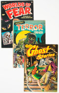 Golden Age (1938-1955):Horror, Golden Age Horror Group of 3 (Various Publishers, 1952-55) Condition: Average VG.... (Total: 3 )