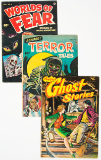 Golden Age Horror Group of 3 (Various Publishers, 1952-55) Condition: Average VG.... (Total: 3 )