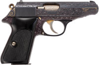 Frank Sinatra Custom Engraved Walther PP Semi-Automatic Pistol