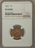 Proof Indian Cents: , 1871 1C PR65 Brown NGC. NGC Census: (9/2). PCGS Population: (9/7). CDN: $430 Whsle. Bid for problem-free NGC/PCGS PR65. Min...