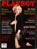 Movie/TV Memorabilia:Autographs and Signed Items, Playboy Magazine Issue Signed by Hugh Hefner (1997)....