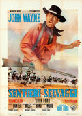 "Movie Posters:Western, The Searchers (Warner Brothers, R-1963). Folded, Fine/Very Fine. Italian 4 - Fogli (55"" X 77.5"") Averardo Ciriello Artwork...."