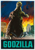 "Movie Posters:Science Fiction, Godzilla by Enzo Nistri (Paramount, 1957). Very Fine+. Signed Original Gouache Concept Artwork on Illustration Board (12.5"" ..."