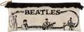 Music Memorabilia:Memorabilia, Beatles Fringed Vinyl Zipper Clutch, Circa 1964....