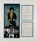 Music Memorabilia:Documents, Prince Signed Contract With Prince Promo Pictures. ...