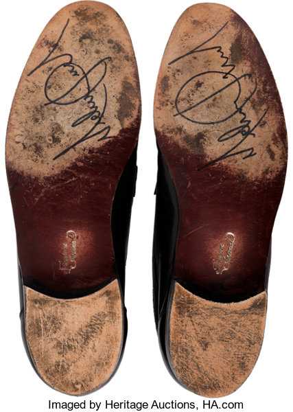5531c7cd7600 Michael Jackson Signed Black Florsheim Imperial Shoes (1997 ...