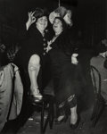 Photographs:Gelatin Silver, Weegee (American, 1899-1968). At Sammy's on the Bowery, 1944. Gelatin silver. 13-1/4 x 10-5/8 inches (33.7 x 27.0 cm). P...