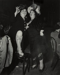 Weegee (American, 1899-1968) At Sammy's on the Bowery, 1944 Gelatin silver 13-1/4 x 10-5/8 inches