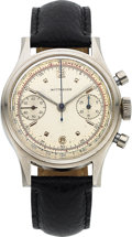 Timepieces:Wristwatch, Wittnauer, Double-Register Chronograph, Stainless Steel, ManualWind, Circa 1950s. ...
