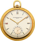 Timepieces:Pocket (post 1900), Vacheron & Constantin, Fine 18k Gold Pocket Watch, circa 1945. ...