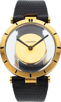 Timepieces:Wristwatch, Jaeger-LeCoultre, Mystery Watch, 18K Yellow Gold, Back Win...