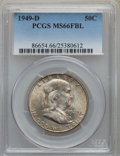 1949-D 50C MS66 Full Bell Lines PCGS. PCGS Population: (93/0). NGC Census: (7/0). CDN: $1,000 Whsle. Bid for problem-fre...