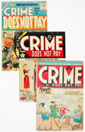 Golden Age (1938-1955):Crime, Crime Does Not Pay Group of 5 (Lev Gleason, 1947-55) Condition: Average VG.... (Total: 5 Items)