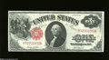 Fr. 36 $1 1917 Legal Tender Choice Crisp Uncirculated. The margins have escaped the clutches of the frame line on this s...