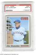 Baseball Cards:Singles (1970-Now), 1970 Topps Leo Durocher #291 PSA Mint 9....