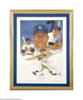 Autographs:Others, Mickey Mantle Signed Lithograph....
