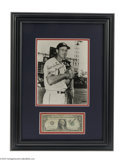 Autographs:Photos, Stan Musial Signed Photograph & Dollar Bill Display....