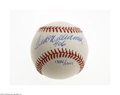"Autographs:Baseballs, Ted Williams "".406"" Single Signed UDA Baseball...."