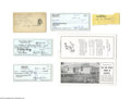 Autographs:Index Cards, Brooklyn Dodgers Autograph Lot of 23...
