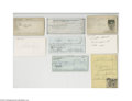Autographs:Index Cards, Cleveland Indians & Cincinnati Reds Autograph Lot of 10....