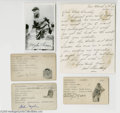 Autographs:Index Cards, 1927 New York Yankees Signed Autograph Lot of 7....