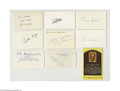Autographs:Index Cards, Hall of Fame Signed Index Card Lot of 21....
