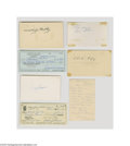 Autographs:Index Cards, Miscellaneous Vintage Major League Ballplayers Signed Index CardLot of 11....