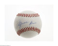 Basketball Collectibles:Others, Michael Jordan Signed UDA Baseball....
