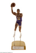 Basketball Collectibles:Others, Salvino, Inc. Magic Johnson Away Purple Signed Statue....