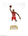 Basketball Collectibles:Others, Michael Jordan Road Signed Upper Deck Statue....