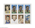 Basketball Collectibles:Others, Basketball Hall of Famers Signed Postcard Lot of 32....