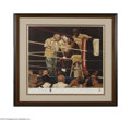 Boxing Collectibles:Autographs, Evander Holyfield Signed Lithograph....