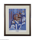 Football Collectibles:Others, Jim Kelly Signed Lithograph....