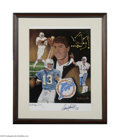 Football Collectibles:Others, Dan Marino Signed Lithograph....