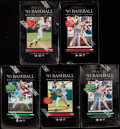 Baseball Cards:Unopened Packs/Display Boxes, 1993 Pinnacle Baseball Series 1 & 2 Wax Box Collection (5). ...