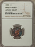 Proof Indian Cents, 1880 1C -- Altered Color -- NGC Details. Proof. NGC Census: (0/104). PCGS Population: (1/104). PR60. Mintage 3,955....